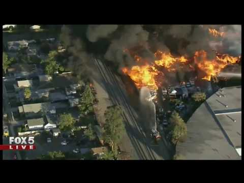 Massive Recycling Plant Fire In California