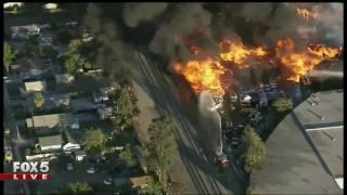 Massive recycling plant fire in California