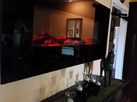 Touchstone Onyx Electric fireplace - YouTube