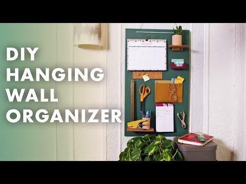 DIY Hanging Wall Organizer - Crafty Lumberjacks - Small Spaces Week 2019 - HGTV Handmade