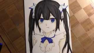 Drawing Hestia from the anime Is it wrong to pick up a girl in a dungeon?