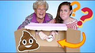 WHAT'S IN THE BOX CHALLENGE MET OMA MIEP // CHALLENGE | ♥ iamtheknees