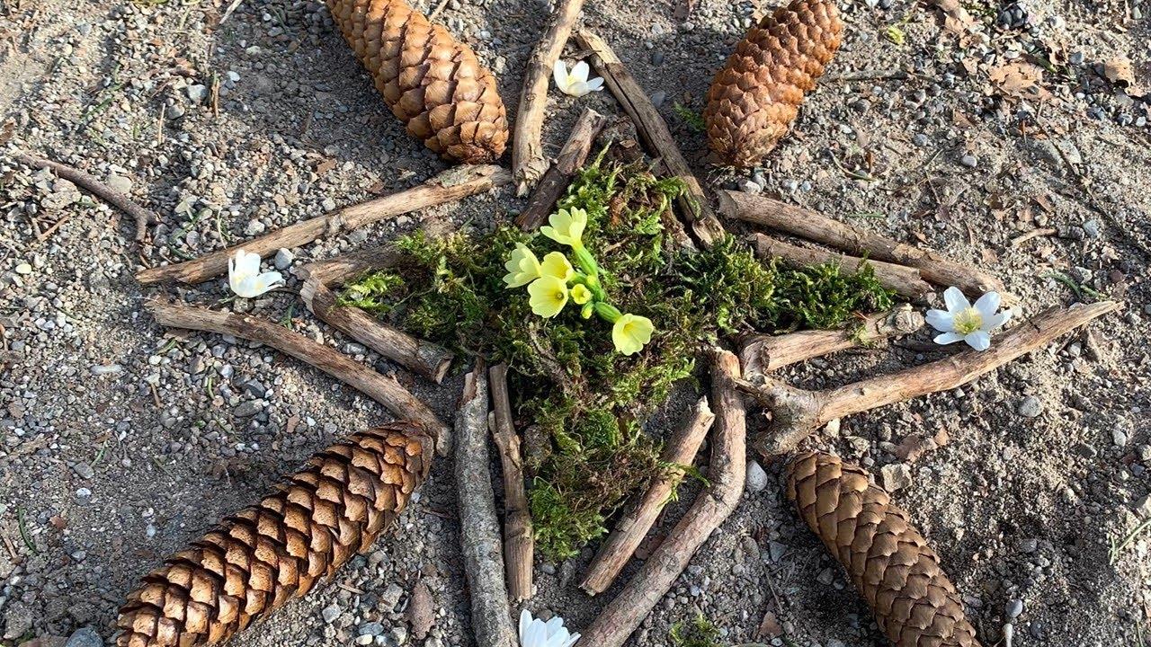 Mandala im Wald 02. April 2020
