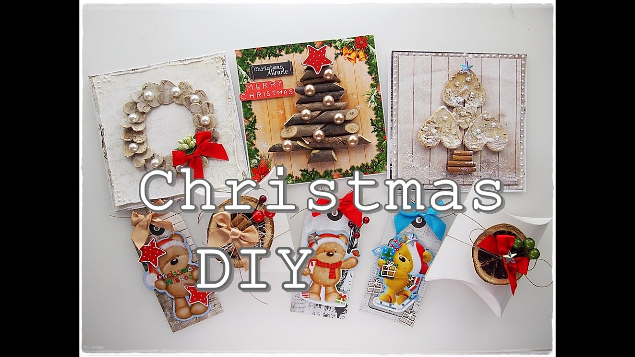Easy DIY Budget Christmas Cards & Tags - YouTube