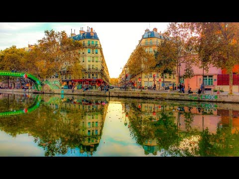A Walk Down Canal Saint-Martin, Paris