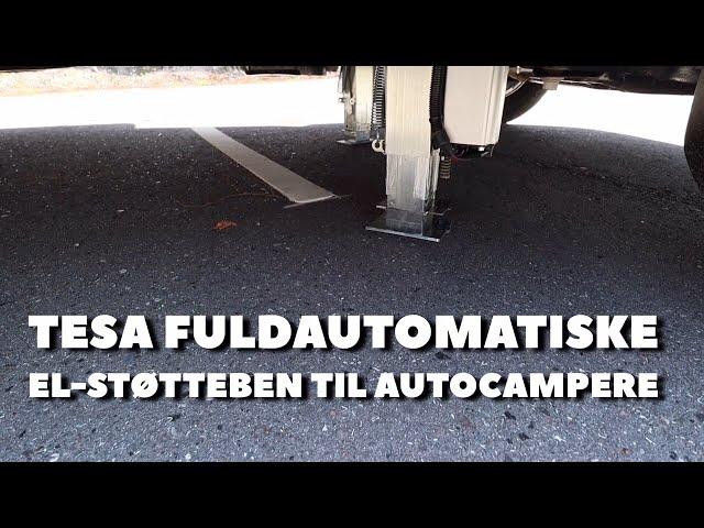 TESA fuldautomatisk el-støtteben til autocampere (Reklame)