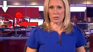 BUSTED ON LIVE TV - BBC Worker Caught Watching an ADULT Video in the Background!
