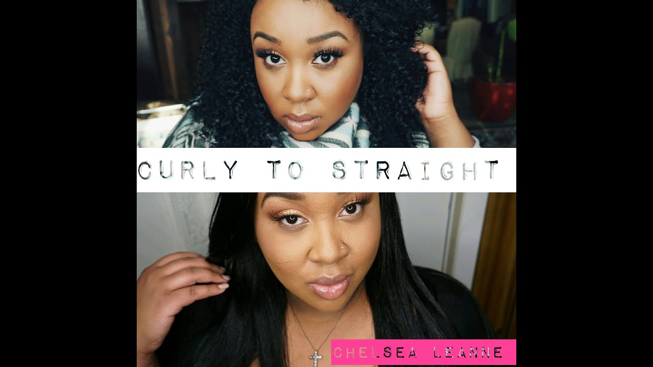 how to make your hair straight naturally youtube