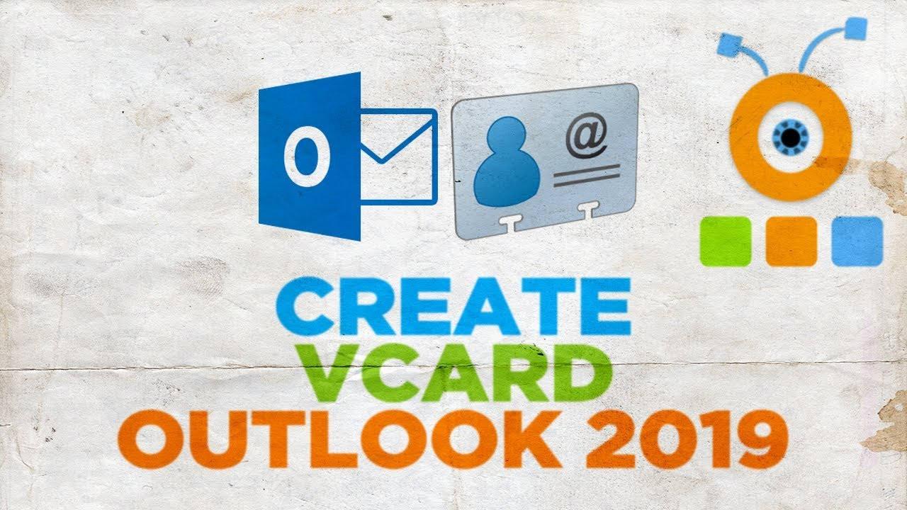 How to Create a vCard in Outlook 2019