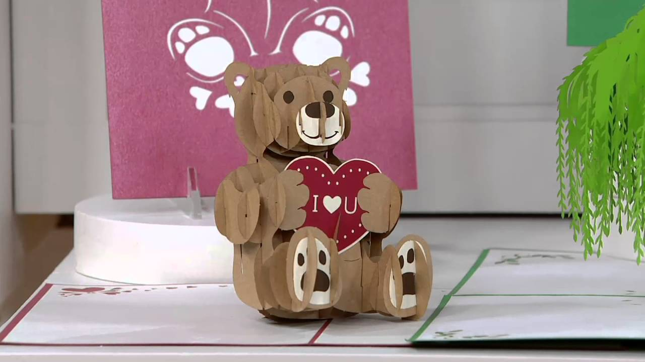 Lovepop S 10 Handcrafted 3D Pop Up Greeting Cards On QVC