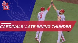 Cards show late-inning thunder vs. Nats, Dodgers