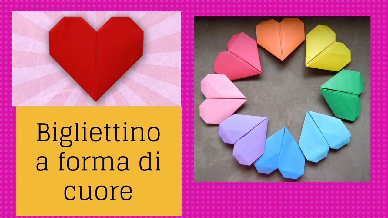 Decorazioni Lettere D Amore dedica d'amore all'interno di un cuore origami
