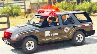 GTA V VIDA POLICIAL | ROTA TROCA TIROS NA FAVELA. EP 302