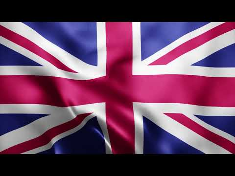 4K Realistic United Kingdom Flag Loop Animation by Motion Made