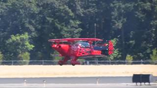 Pitts S-2B Special Lands At KHIO On Runway 30