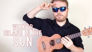 Island In the Sun - Weezer (Ukulele Tutorial song & guitar solo!)