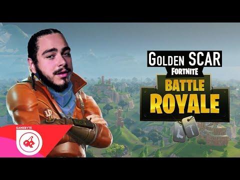 Fortnite Music Video - Golden SCAR (I Fall Apart Parody | POST MALONE)