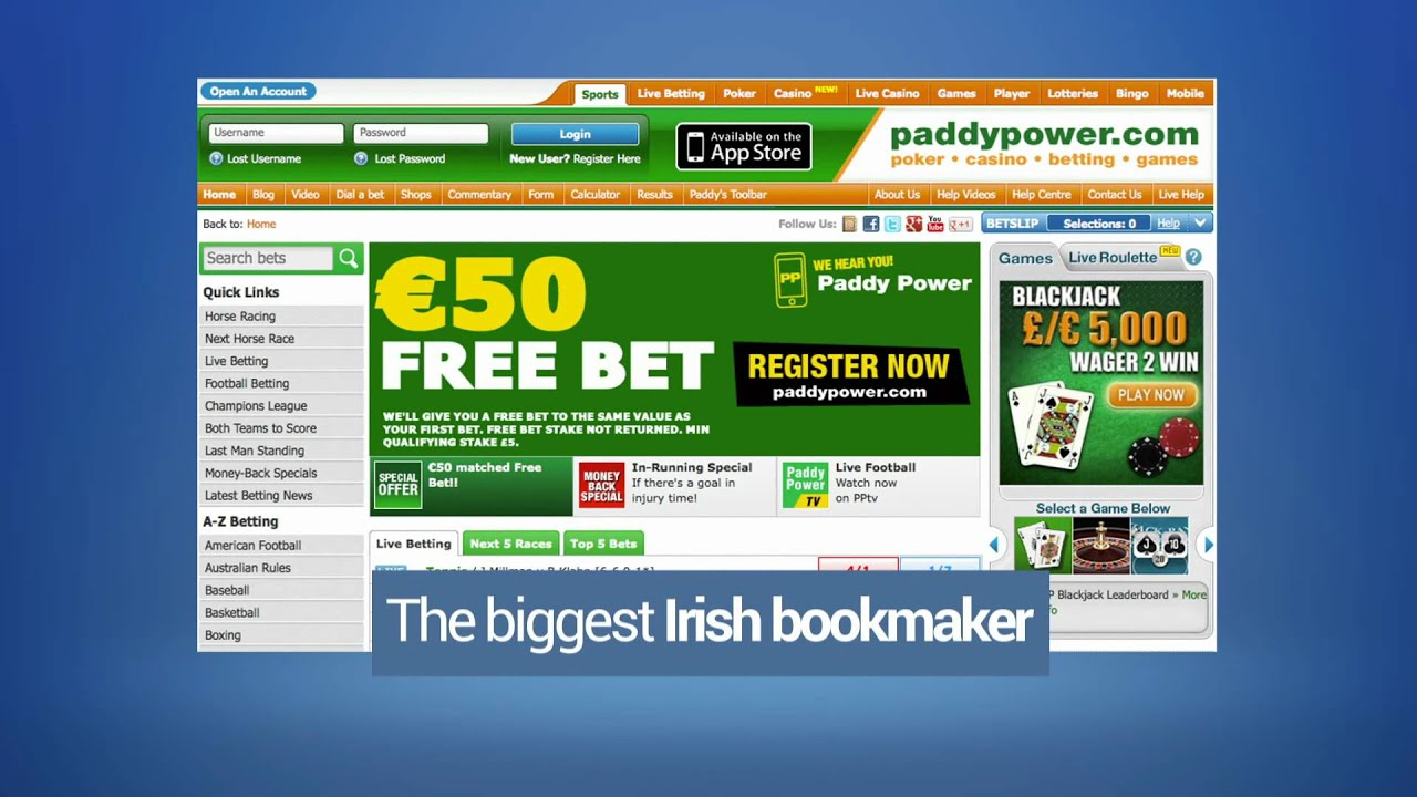 Online betting from paddy power results boylesports free football betting