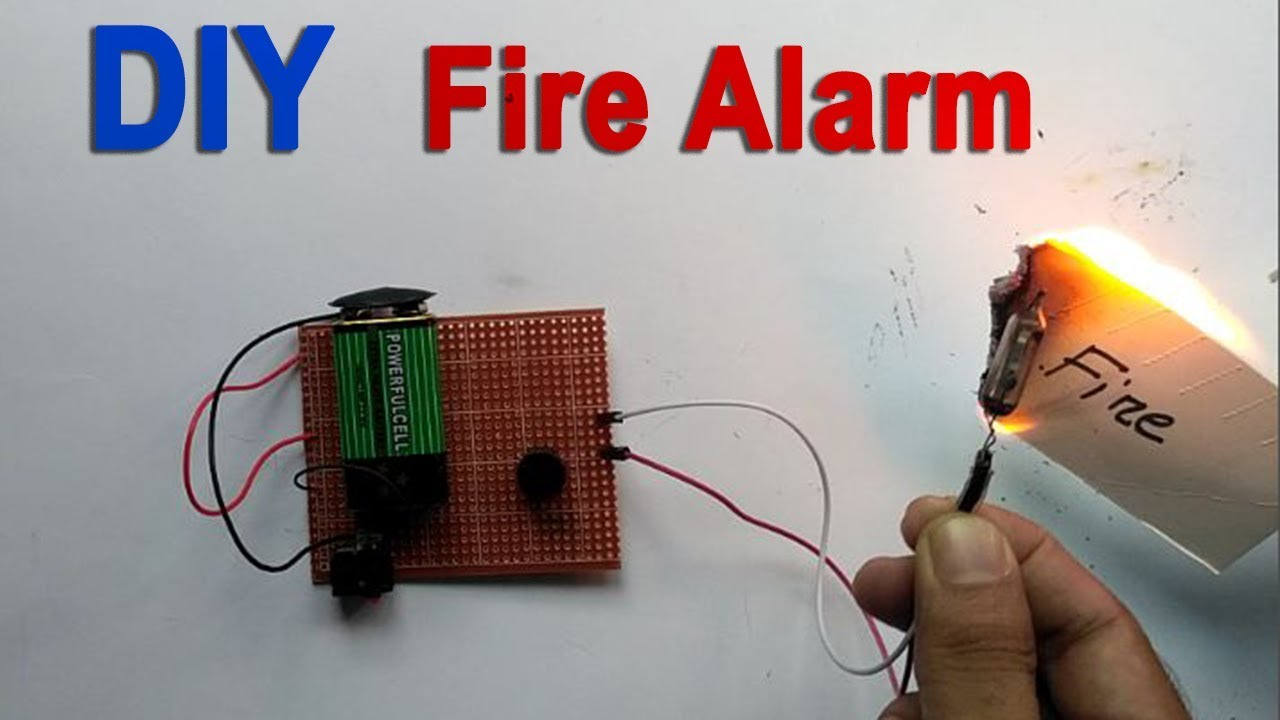 How to Make a Automatic Fire Alarm System at Home - DIY - YouTube