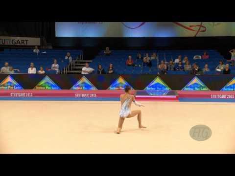 Ana Luiza FILIORIANU (ROU) 2015 Rhythmic Worlds Stuttgart - Qualifications Clubs
