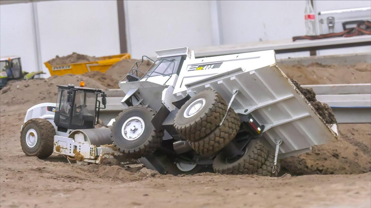 Huge RC Construction Site! Mega Excavator! RC Trucks! RC Tractors!