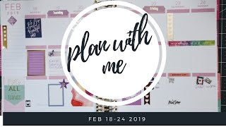Plan with me | Feb 18-24 | Jessica Sunshine