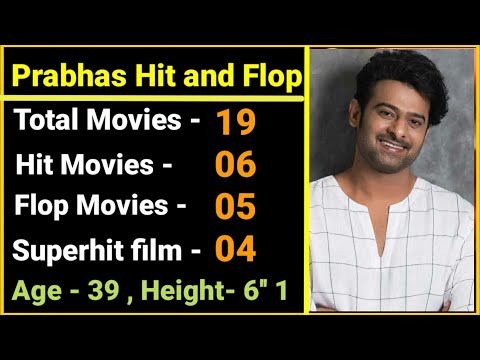 Prabhas Hit, Flop, Blockbuster Movies | Actor Prabhas Films List - | Darling Prabhas Box Office News