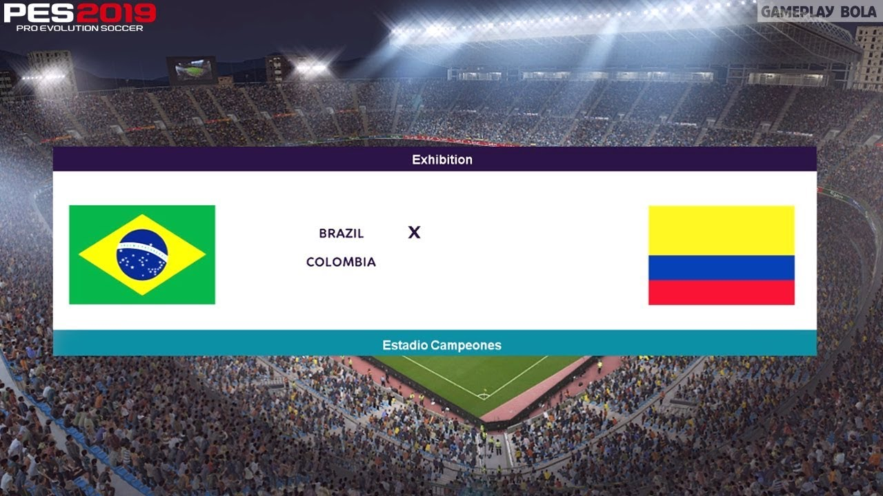 BRAZIL vs COLOMBIA • International Match • PES 2019 Realistic Gameplay