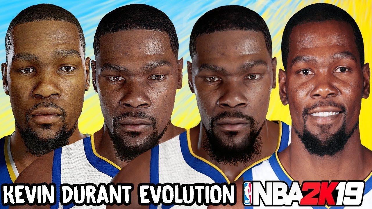 Kevin Durant Ratings and Face Evolution College Hoops 2K7