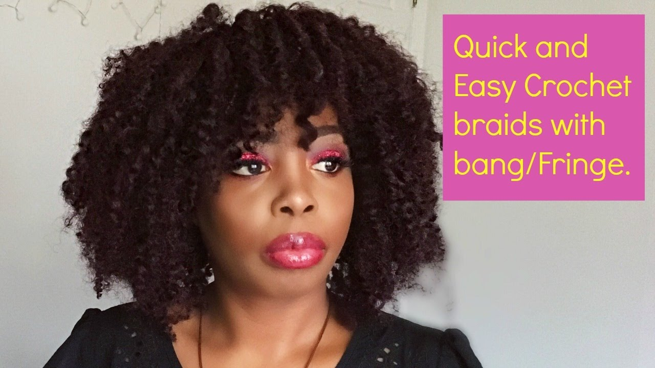 How to: Easy crochet braids with Bangs/Fringe. - YouTube