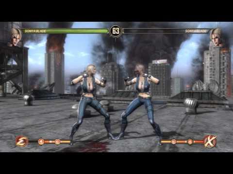 Mortal Kombat: SONYA BLADE   Fatalities And Babality   Tutorial
