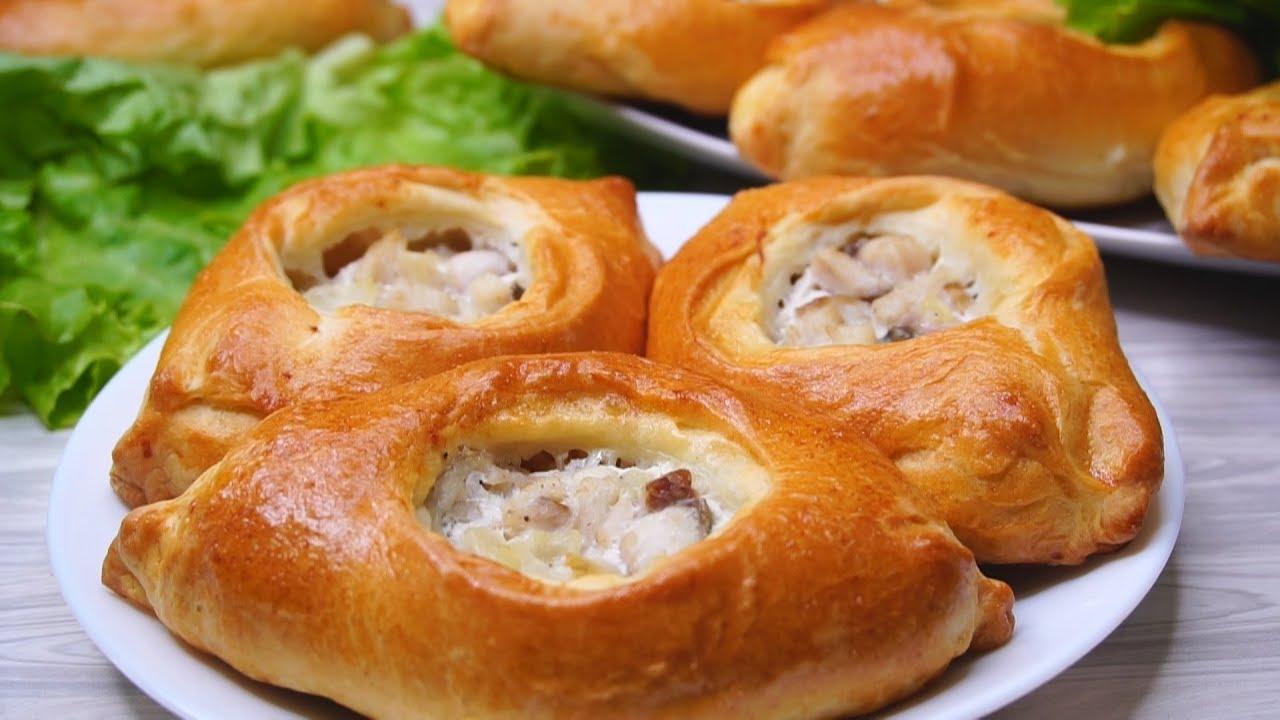 Пирожки по бабушкиному рецепту - на картофельном отваре, с начинкой из картофеля.