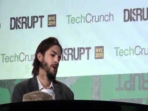 Ashton Kutcher At TechCrunch Disrupt NYC 2011