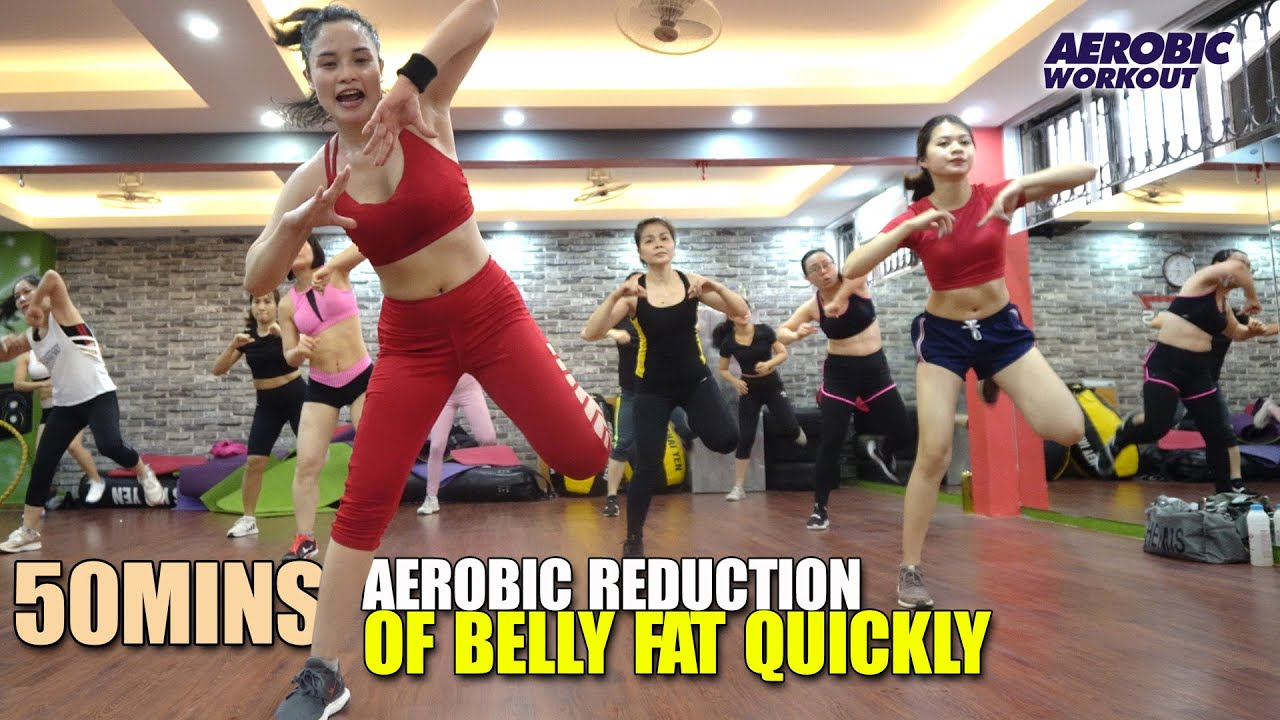 50 Mins Aerobic reduction of belly fat quickly l Aerobic dance workout easy steps l Aerobic Workout