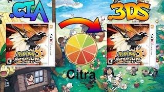 Pasar De (CIA A 3DS) Pokemon Ultrasol y Ultraluna y Jugarlo En Citra - PC