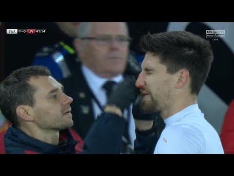 Federico Fernandez breaks nose celebrating Swansea's opener against Liverpool thanks to own