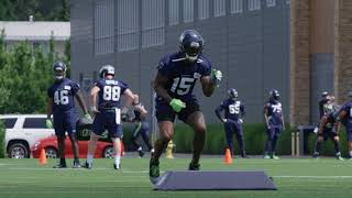 Brandon Marshall's First Practice with the Seahawks