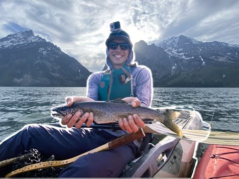 Jenny Lake Kayak Fishing In Grand Teton National Park - Fly Fishing And Spin Casting For Trout!