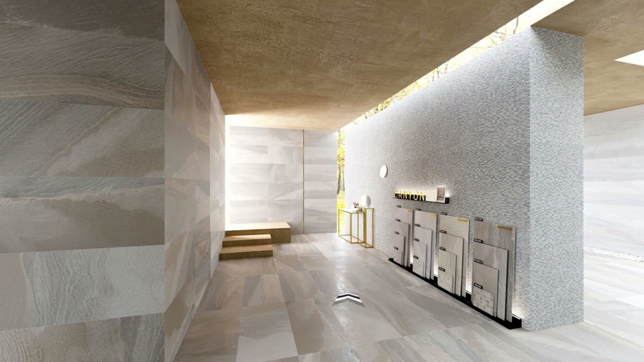 canyon app porcelain tiles with stone finish