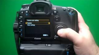 Canon 7D HDR Custom Settings