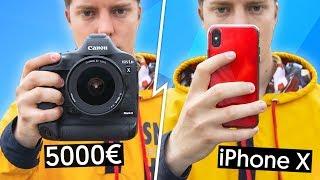 iPhone X VS Reflex à 5000€ !