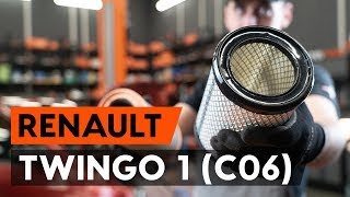 How to replace Air Filter on RENAULT TWINGO I (C06_) - video tutorial