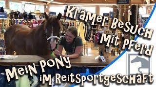Mein Pony im Reitsportgeschäft  Krämer Besuch mit Pferd  Auftritt Autogrammstunde