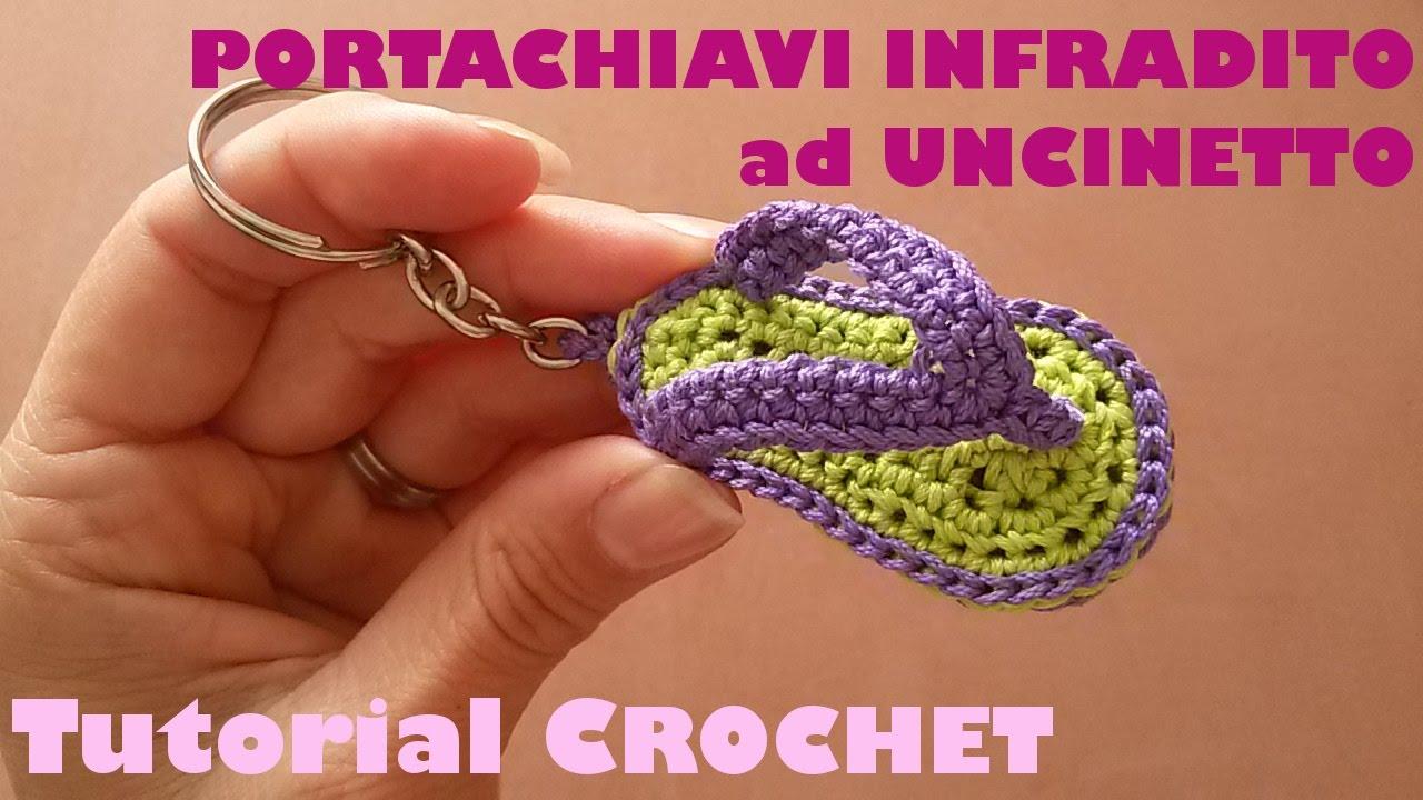 Tutorial Portachiavi Infradito Ad Uncinetto Sub English And