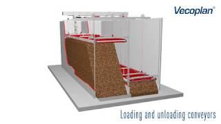 видео: Автоматический склад щепы, тип BEF  // Погрузочно-разгрузочный транспортер // VECOPLAN (Германия)
