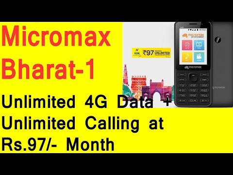 MICROMAX BHARAT 1 Desh ka 4GFone - First VoLTE Supported Micromax Feature Phone with Unlimited Plan