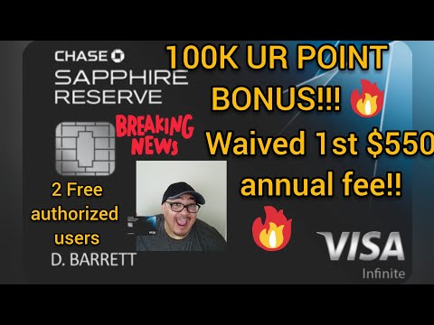 100K Sapphire Reserve Bonus Is Back! One Of The BEST Credit Card Sign Up Bonuses.