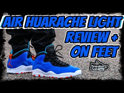 the latest 7a4f3 20059 Jordan 10 AIR HUARACHE LIGHT | Tinker 10 | Racer Blue Review and on Feet