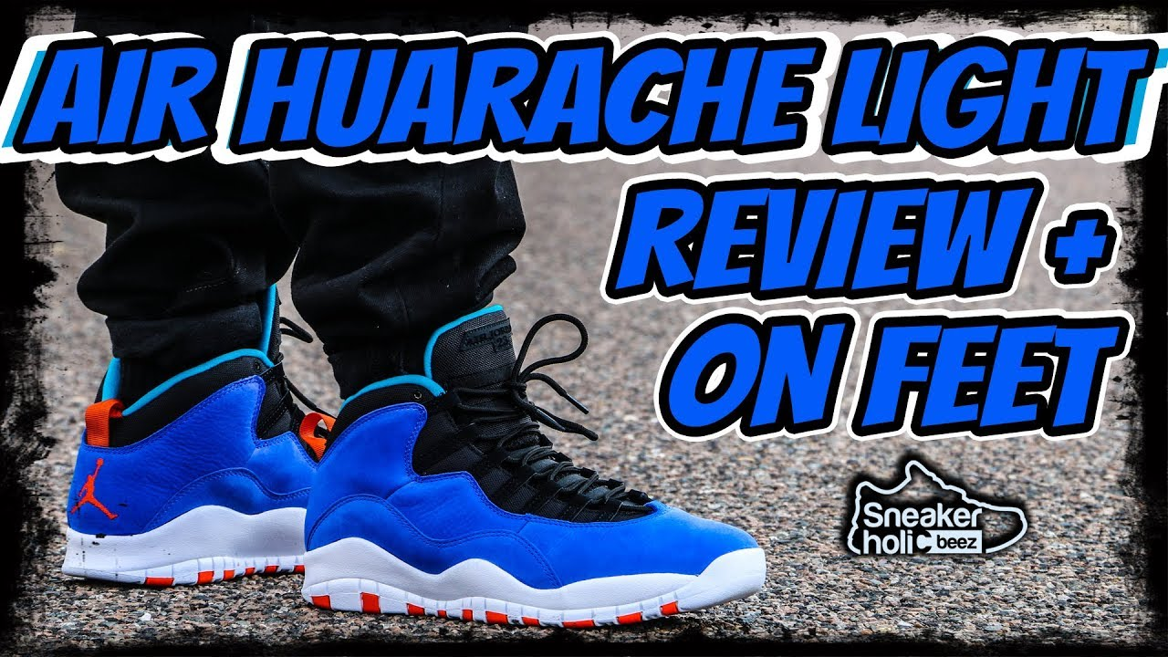 the latest 33677 3c4a1 Jordan 10 AIR HUARACHE LIGHT | Tinker 10 | Racer Blue Review and on Feet