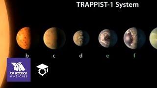 Descubren sistema solar con 7 planetas parecidos a la tierra